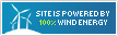 Site is powered by 100% wind energy